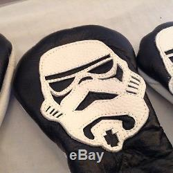 Rare Leather Headcover set Robert Mark custom STAR WARS storm trooper set