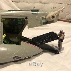 STAR WARS CUSTOM Vintage 1981 Boba Fett SLAVE 1 with CUSTOM LIGHTS IN BOX