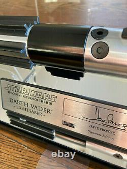 STAR WARS Darth Vader EP6 Saber Master Replicas style Display custom Signature