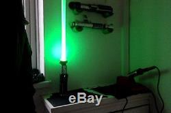 STAR WARS MASTER REPLICAS Force FX YODA Lightsaber CUSTOM Led Combat Saber