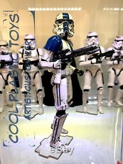 STAR WARS STORMTROOPER Commander 501st Black Series 6 Inch Customize Lot