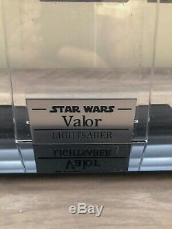 Saberforge ASP The Valor Custom Lightsaber Star Wars Extras And Stand