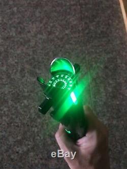 Saberforge Custom black Star Wars Green Lightsaber With Sound and blade