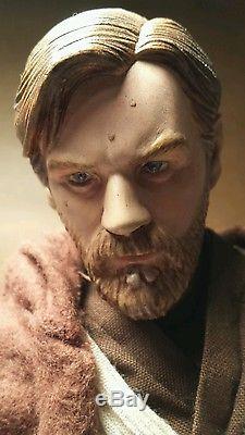 Sideshow 1/6 Custom REPAINTED Star Wars Obi-Wan Kenobi Jedi 12 figure Loose
