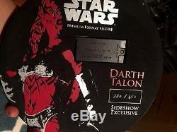 Sideshow Star Wars DARTH TALON EXCLUSIVE PREMIUM FORMAT FIGURE + Custom Saber