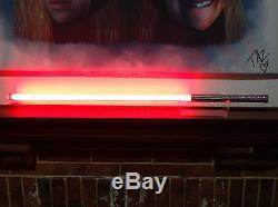 Silver Star Wars Custom Red String LED FX Lightsaber W In-Hilt Recharge + Sound