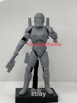 Star Wars 1/6 Custom Clone Commando Scorch Trooper Figure Kit