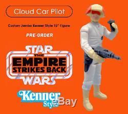 Star Wars 1/6 SCALE 12 JUMBO KENNER CUSTOM CLOUD CAR PILOT NOT GENTLE GIANT