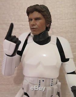 Star Wars 1/6 scale STORMTROOPER HAN SOLO with JNIX CUSTOM HEAD Hot Toys Outfit