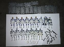 Star Wars 501st HUGE Phase 2 Clone Troopers Lot (6 CUSTOMS)