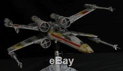 Star Wars ANH Studio Scale X-wing Red 2 Model Built and Lit Model withCustom Base