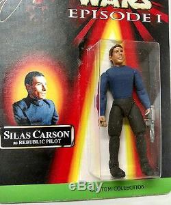 Star Wars Autographed Silas Carson Republic Pilot Figure Custom Phantom Menace