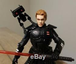 Star Wars Black Series 6 CUSTOM Dark Side FALLEN Inquisitor CAL KESTIS & BD-1