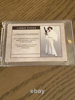 Star Wars Carrie Fisher As Princess Leia Autograph Custom Card Auto