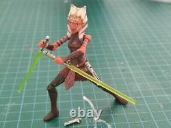 Star Wars Clone Wars CW44 Ahsoka Tano jedi rare Custom hilts