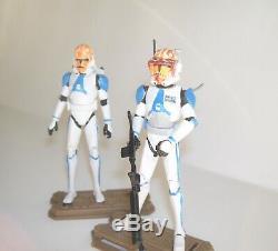 Star Wars Clone Wars Custom Captain Vaughn 332nd Clone Trooper Loose