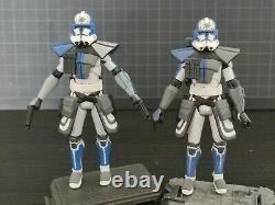 Star Wars Clone Wars custom 3.75 Jesse ARC 501st clone trooper
