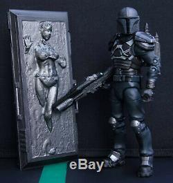 Star Wars Custom 6 Black Series Slave Leia in Carbonite + Custom Mandalorian