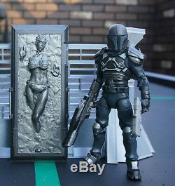 Star Wars Custom 6 Black Series Slave Leia in Carbonite + Mandalorian Fett
