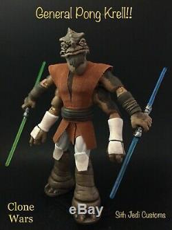 Star Wars Custom Clone Wars General Pong Krell Sith Jedi Customs