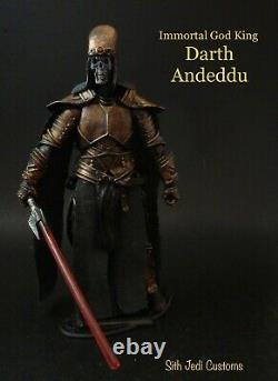 Star Wars Custom Immortal God King Darth Andeddu 3.75 Sith Jedi Custom