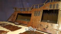 Star Wars Custom Jabba the Hutt's Sail Barge The Khetanna 3.75 ROTJ Han Skiff