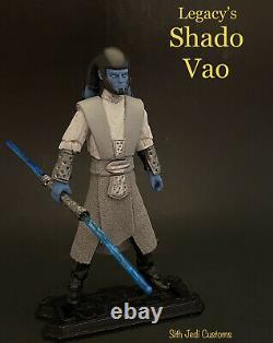 Star Wars Custom Legacy's Shado Vao 3.75 Sith Jedi Custom