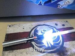 Star Wars Custom Lightsaber 7 Chambers Quinlan Vos Neopixel Proffie 2.2