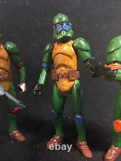 Star Wars Custom Teenage Mutant Ninja Troopers Clone Trooper Lot