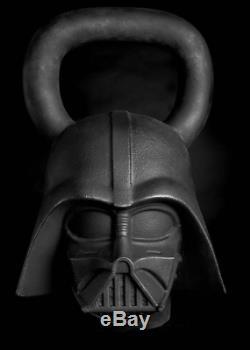 Star Wars Darth Vader Kettlebell 70lbs Custom Sculpted Chip Resistant Iron Black
