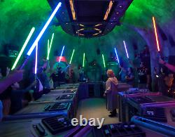 Star Wars Galaxy's Edge Custom Lightsaber + Crystal + Stand Savi's Workshop
