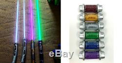 Star Wars Galaxy's Edge Savi's Workshop Custom Lightsaber + 5 Kyber Crystals