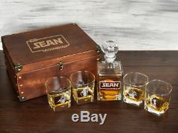 Star Wars Gift for Him Engraved Whiskey Decanter Set Star Wars Custom Groom Gift