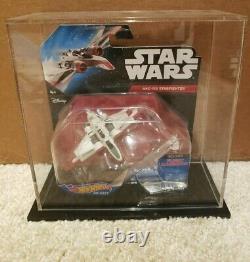Star Wars Hot Wheels Arc-170 starfighter + custom display case RARE Hard to Find