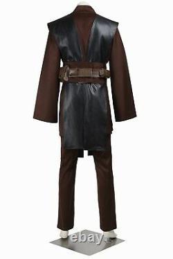 Star Wars Jedi Knight Anakin Skywalker Outfits Uniform Halloween Cosplay Costume