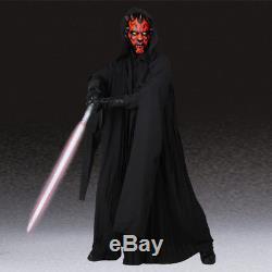 Star Wars Jedi Knight Darth Maul Costume Cosplay Fancy Dress Men Cloak Halloween