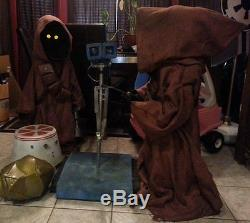 Star Wars Life Size Custom Jawa Prop (Version 3 voice chip, 8 pouches, torch)