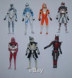 Star Wars Lot Of 7 Custom Clone Wars Figures Dogma, Fil, Kix, Ganch, Rex Loose 3.75