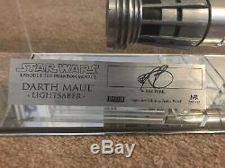 Star Wars Master Replicas Signature, Darth Maul Custom Lightsaber- Read Info