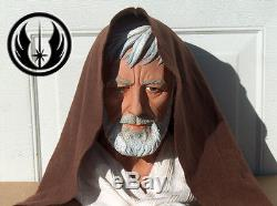 Star Wars OBI WAN KENOBI Life Size 11 Custom black series Bust