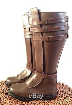 Star Wars Obi Wan Kenobi EP II AOTC Boots MEN'S 9 100% Leather Stock & Custom