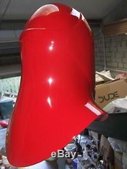 Star Wars Red Fibreglass Helmet Prop Custom Adult Large Size