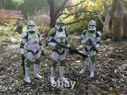 Star Wars The Black Series 6 Inch Horn Company Clone Troopers Custom Action