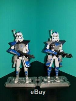Star Wars The Clone Wars 3.75 Custom Arc Trooper Fives & Echo