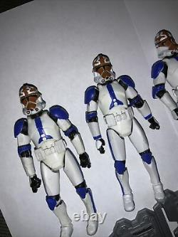 Star Wars The Clone Wars 501st Phase 2 Clone Trooper Lot (CUSTOMS)