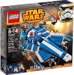 Star Wars The Clone Wars Anakin's Custom Jedi Starfighter Exclusive Set #75087