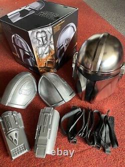 Star Wars The Mandalorian Black Series Helmet + Custom Arm Bracers & Pouldrons