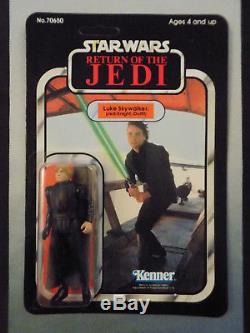 Star Wars Vintage Kenner 1983 Rotj Luke Skywalker Jedi Knight Custom Re-card