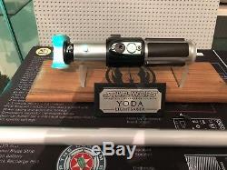 Star Wars Yoda FX Master replicas Lightsaber Custom Nano Biscotti V3