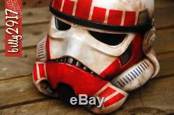 Star Wars black series stormtrooper helmet custom paint jobs cosplay electronic